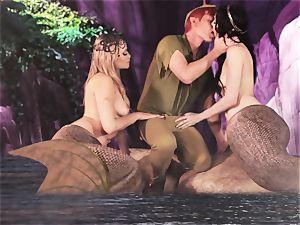 super-hot mermaid three way with Aiden Ashley and Mia Malkova