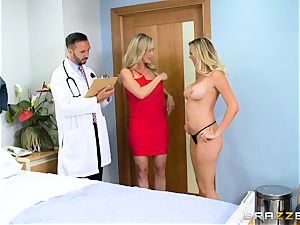 Brandi enjoy and Brett Rossi get down to biz with the doctor