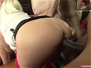 Michelle Thorne and youthfull mega-slut gang-bang plumb with group