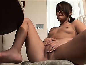Meggan Powers plays with her raw vag after getting inebriated