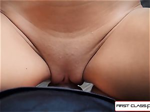 Kacey Jordan gets pummeled by a large man-meat in point of view style