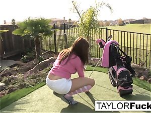 Taylor displays you her phat udders