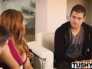 TUSHY first-ever buttfuck For latin sweetie Luna starlet