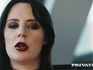 adorable reporter Stella Cox spits over a big black cock