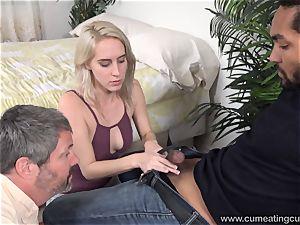 Cadence Lux Makes vagina hubby licks folks spunk