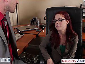 ginger-haired Penny the new office fuckslut