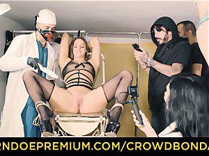 CROWD restrain bondage enslaved Amirah Adara first-ever time domination & submission