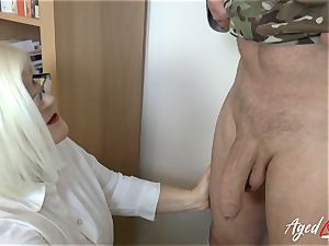 AgedLovE Lacey Starr pummeling stiff with Soldier