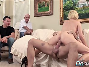 hubby watches wife Kasey Grant sodomized