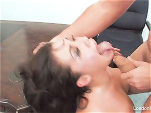 asian hotty London Keyes gets an office penetrate