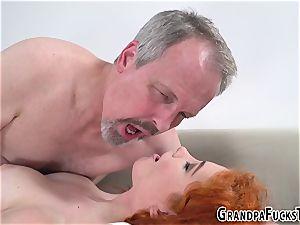 Ginger nubile smashes gramps