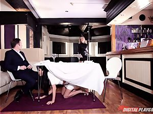 super-naughty Frenchwoman Anissa Kate tempts family stud under table