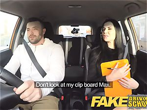 faux Driving college Jasmine Jae downright nude fuck-fest in car