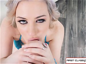 first Class point of view - Jessica Ryan deep-throat your yam-sized prick