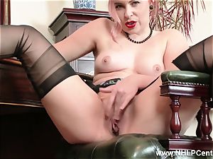 sandy-haired is antique nylon fetish tramp at wank Off Club