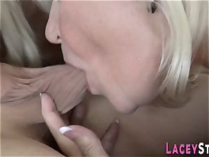 grannie torn up in 3some