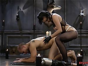naughty domme Pegging Her brown-eye