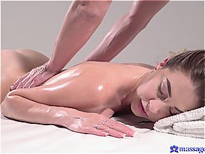 super-fucking-hot massage turns to sensual sex and this dark haired goddess luvs it