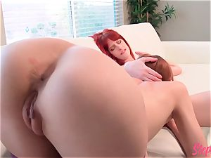 wild red-haired Stepsisters super-fucking-hot all girl action