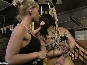 Kathia Nobili spanking the arse of super-hot woman with crop