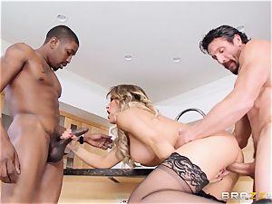 Capri Cavanni humps her stud and his friend