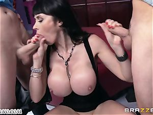 buzzed milf Eva Karera with immense melons indulges on the party