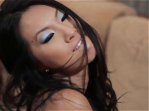 Asa Akira and Jessica Drake ultra-kinky 3some smashing