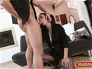 Victoria sugary-sweet gets ravaged with her clothes on