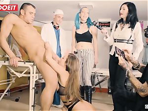 LETSDOEIT - Amirah Is abused at her very first domination & submission soiree