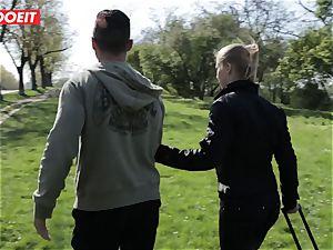 LETSDOEIT -perv boy Tricks sizzling platinum-blonde Tourist Into hookup