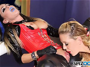 Minge munchers Jessica Jaymes and Cherie Deville get super-naughty on this space mission