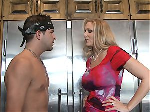 Julia Ann gets her forearms on a toyboy pink cigar for fuck fun