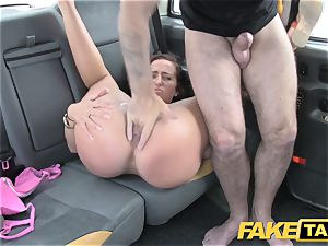 fake taxi damsel in pinkish lingerie gets creampied