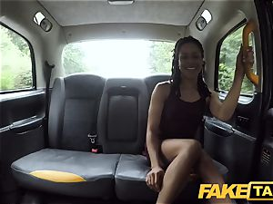 faux taxi rapid humping and internal ejaculation for peachy backside