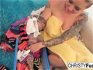 Nick Manning drills tattooed superstar Christy