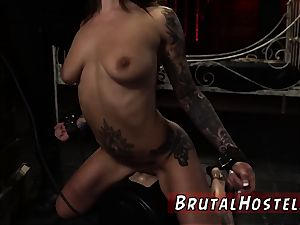 new restrain bondage hook-up gimp and extreme blond very first time excited young tourists Felicity
