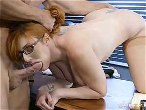 fuckpole greedy Lauren Phillips penetrated in her ginger cooter