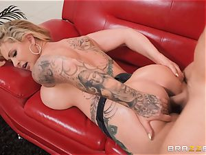 lubricated up torn jeans rump pound with Ryan Connor