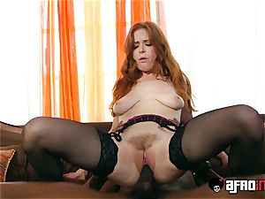 audition ALLA ITALIANA red-haired porked by a ebony pecker