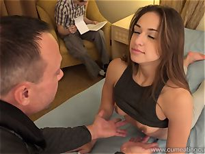Sara Luvv Cuckolds Her husband and Makes him blow beef whistle
