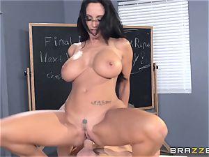 big-boobed tutor Ava Addams is romped by her schoolgirl