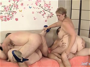 super-naughty bbw fuck-fest with 4 bbw stunners