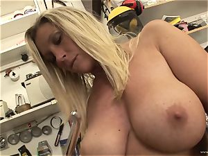 red-hot Devon Lee likes taunting her mouth-watering humid clittie