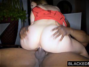 BLACKEDRAW meaty orb white damsel gets dual teamed by BBCs
